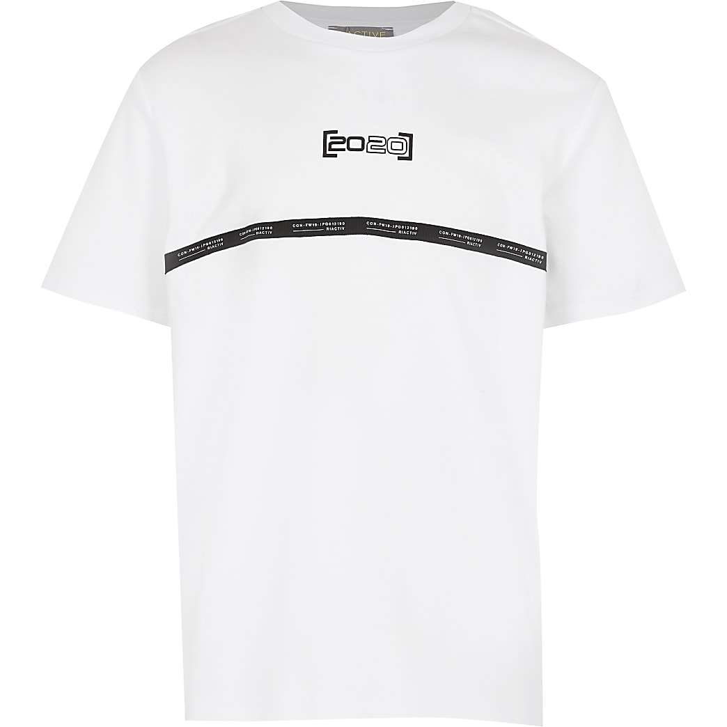 Boys white RI Active t-shirt