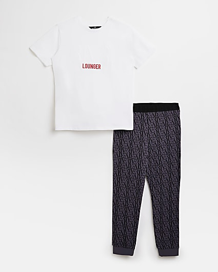 Boys white RI pyjama set