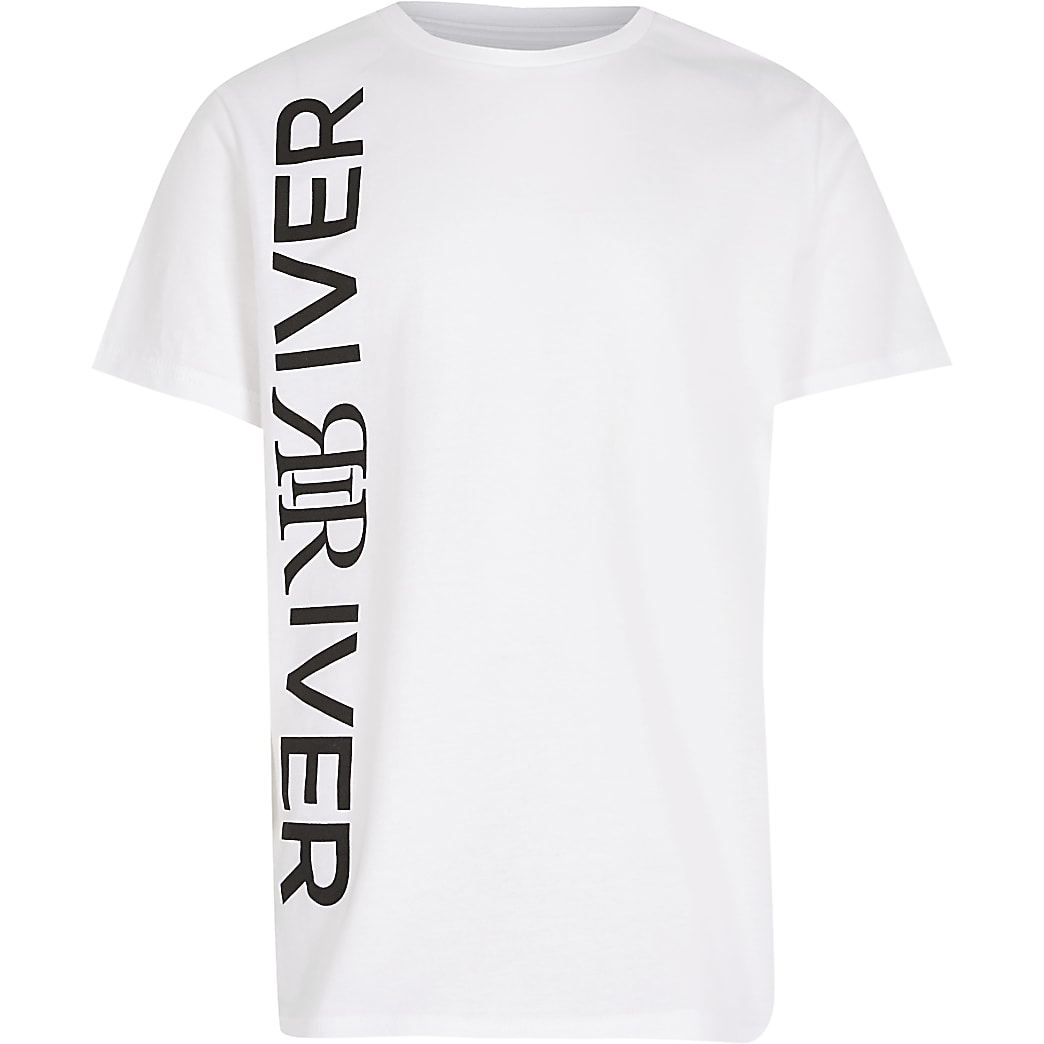 Boys white RIR  print t-shirt