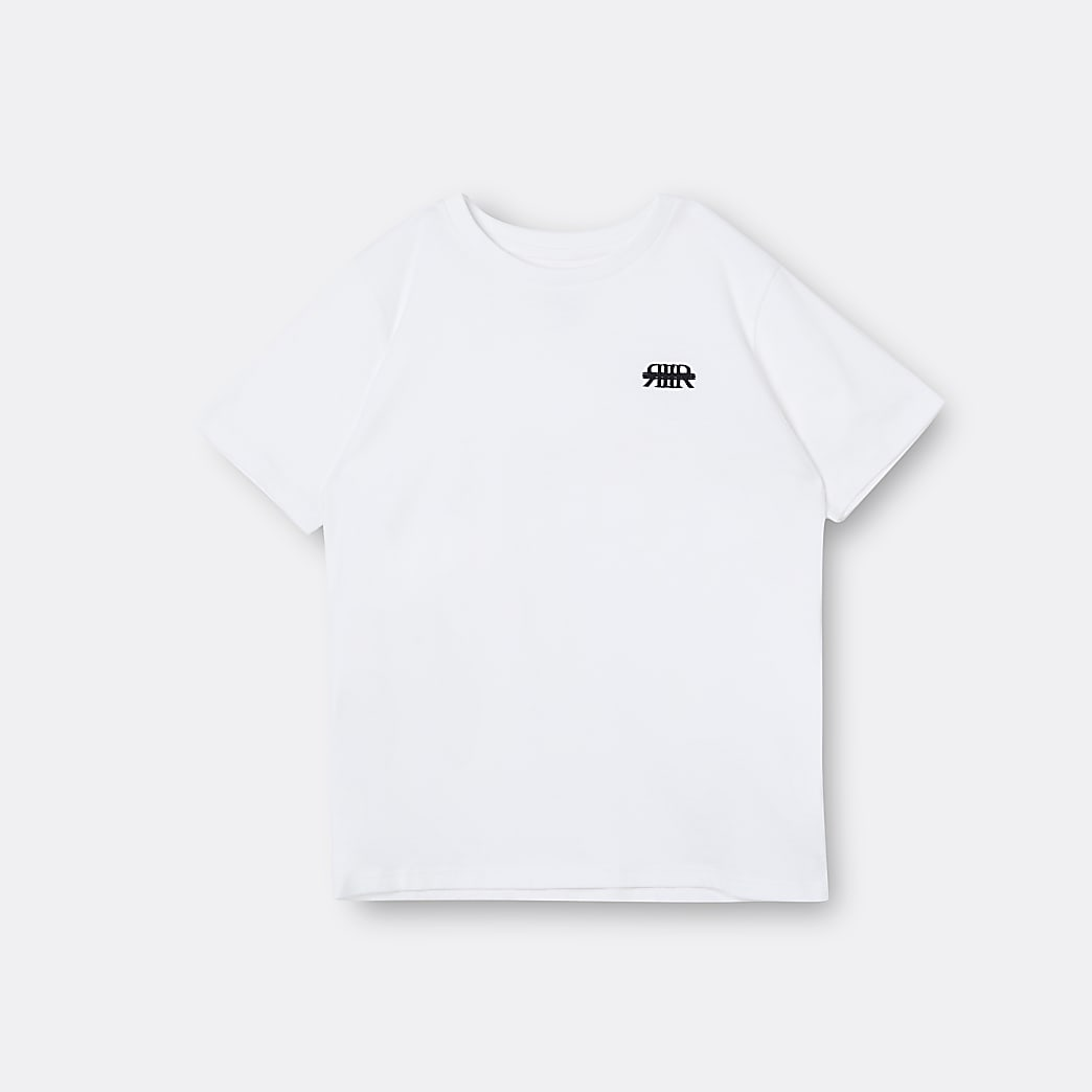 Boys white RIR t-shirt