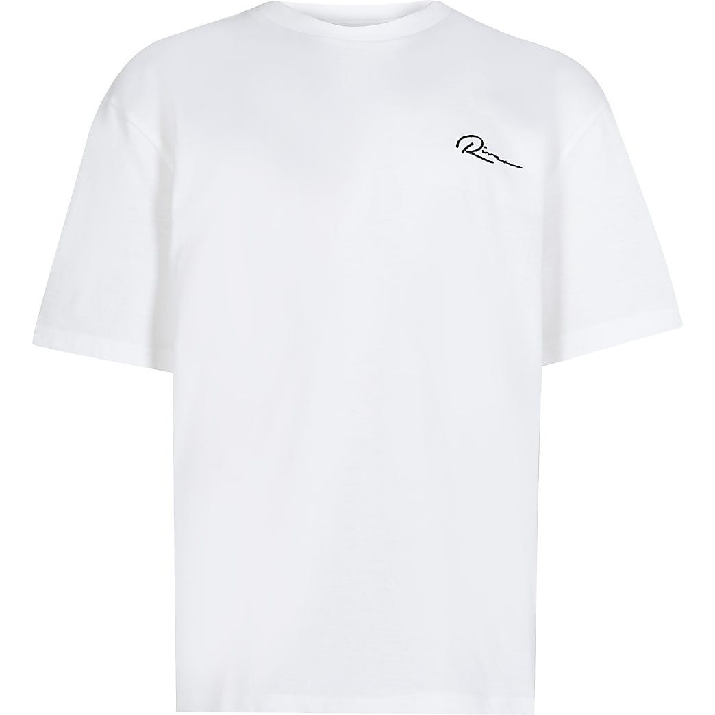 Boys white 'River' boxy t-shirt