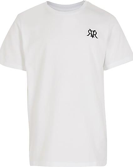 Boys white RVR t-shirt