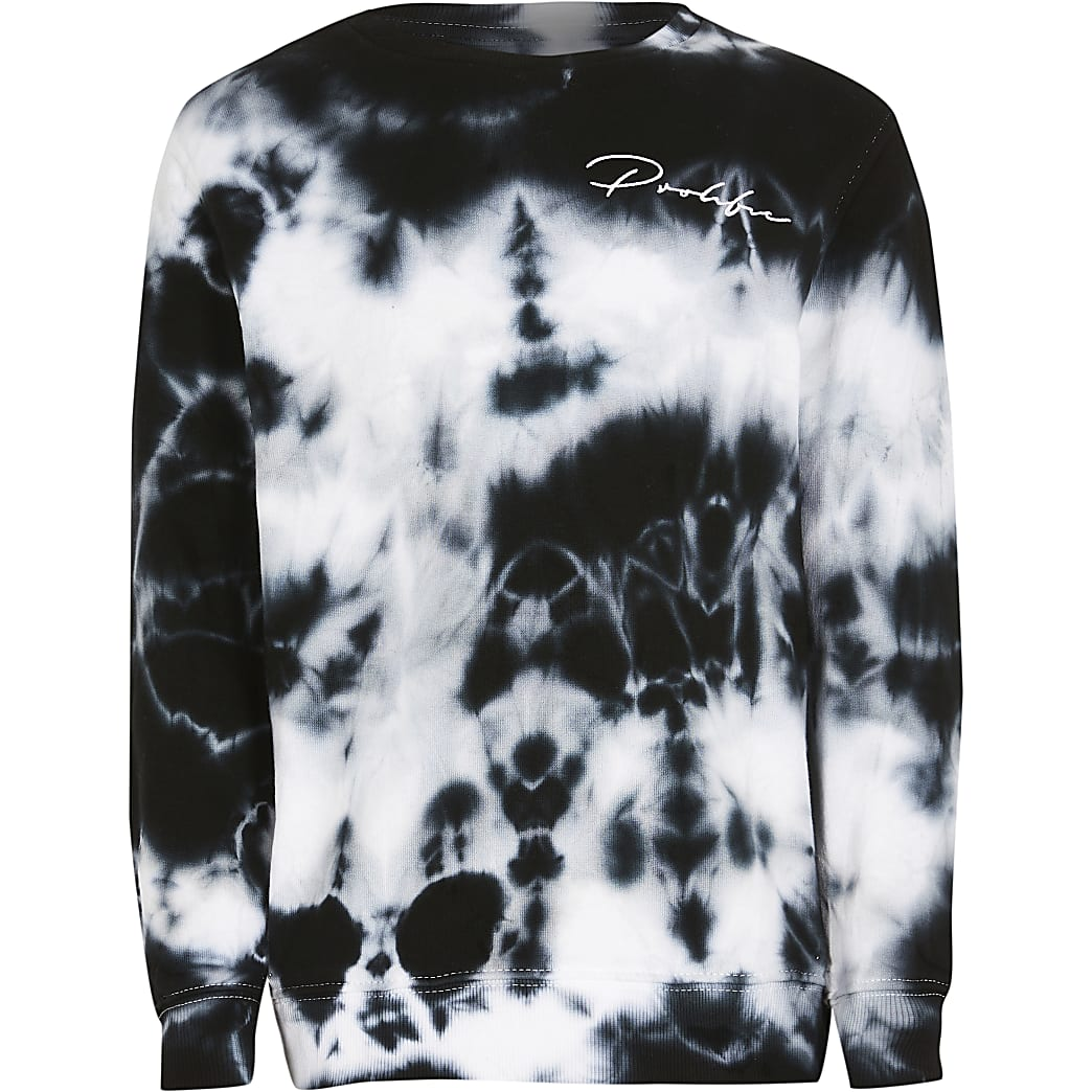 Boys white tie dye sweatshirt