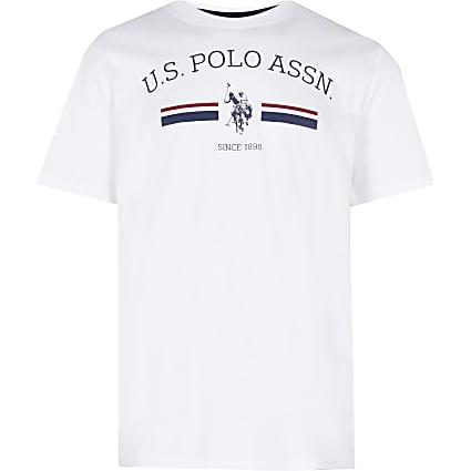 Boys white USPA short sleeve t-shirt