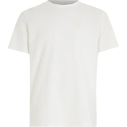Boys white waffle T-shirt