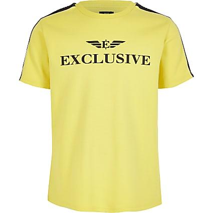 Boys yellow 'Exclusive' T-shirt