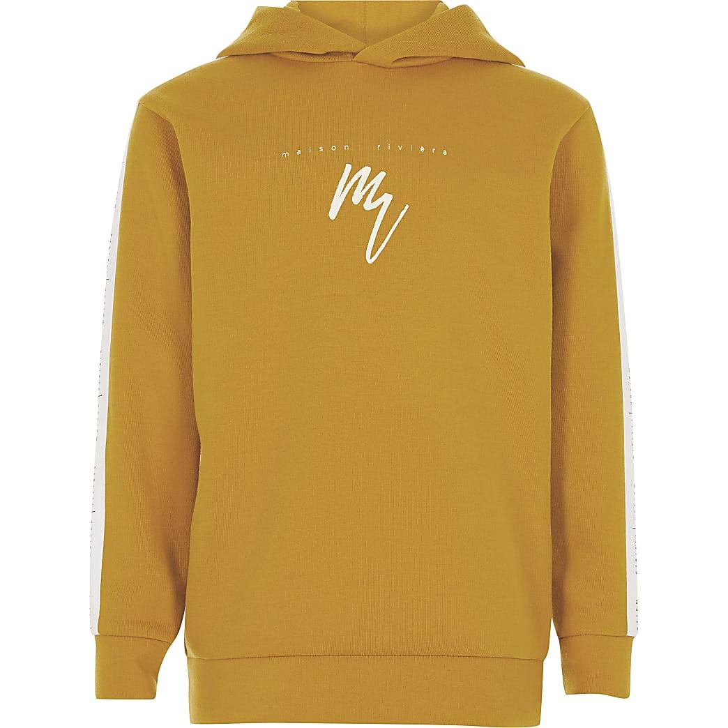 MaisonRiviera- Gele tape hoodievoor jongens