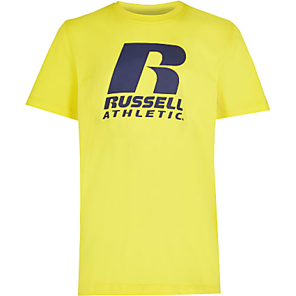 Boys yellow Russell Athletic t-shirt
