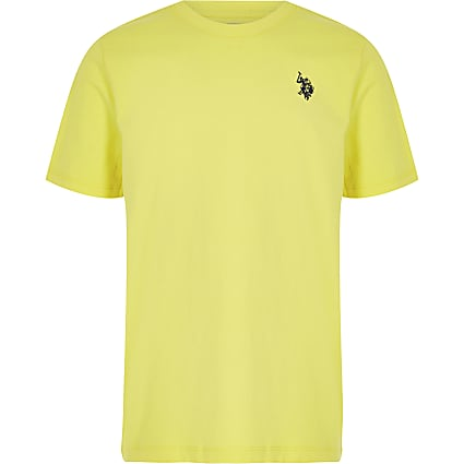 Boys yellow USPA plain T-shirt