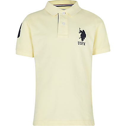Boys yellow USPA polo shirt