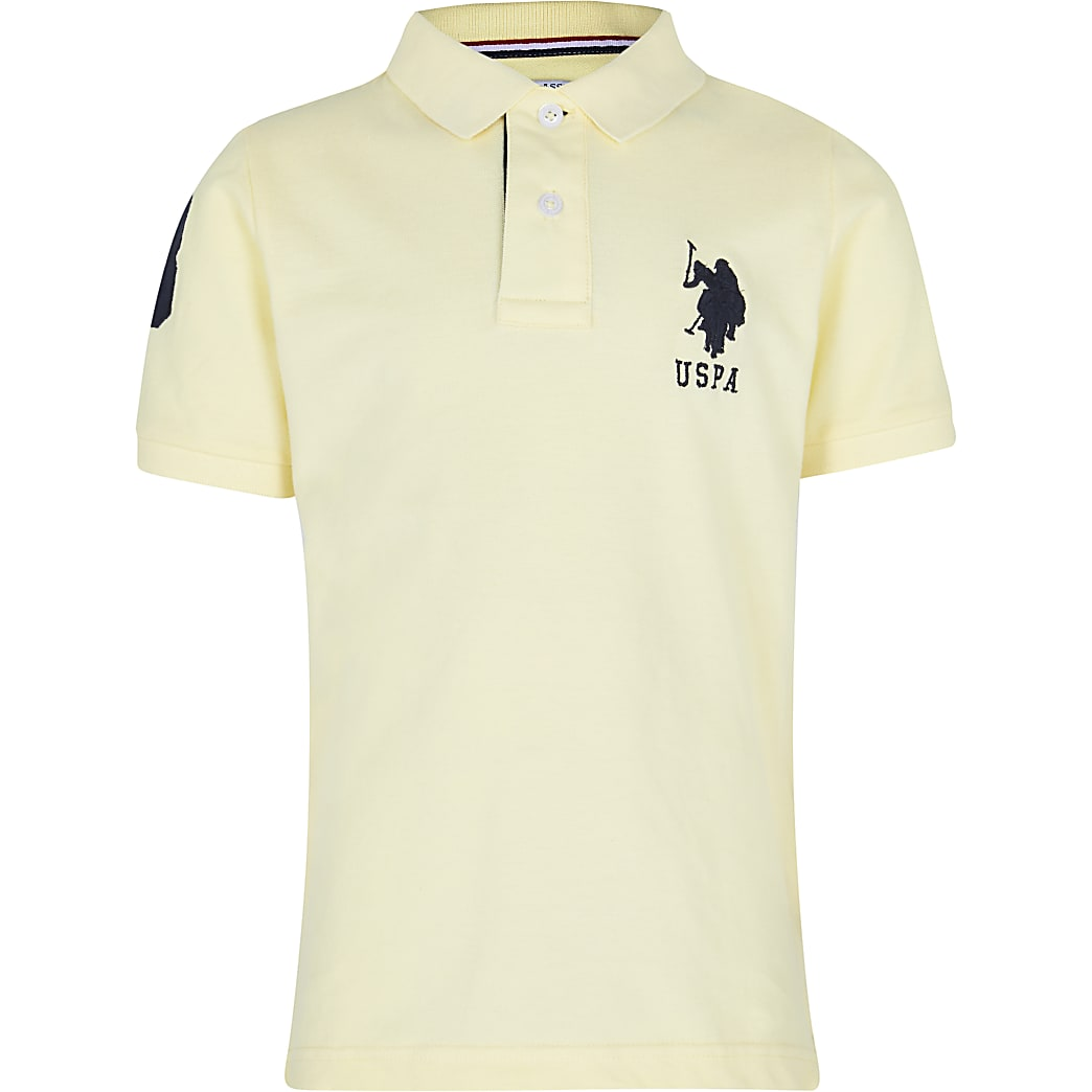 Boys yellow USPA polo shirt