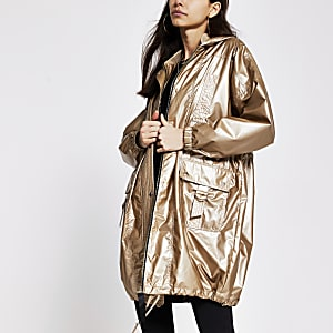 Langer Anorak in Bronze
