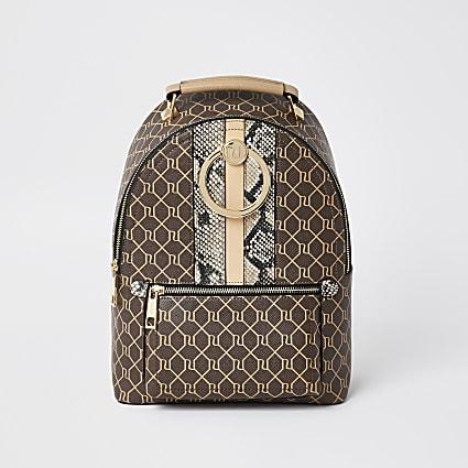 Brown - Dark 3885 Monogram Ring Backpack