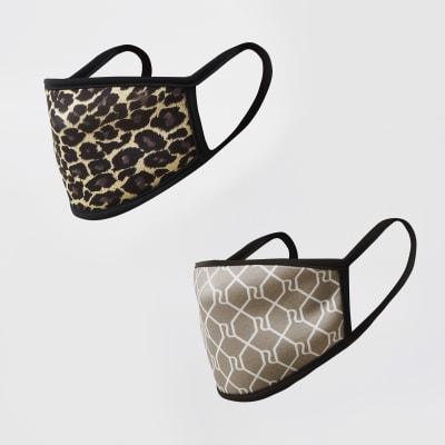River Island Leopard Print Face Mask