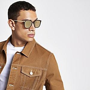 Bruine navigator zonnebril met brug