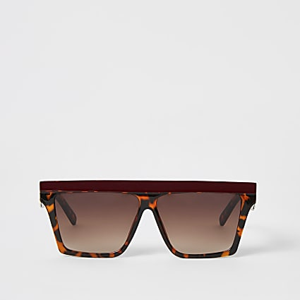 Brown contrast brow visor sunglasses