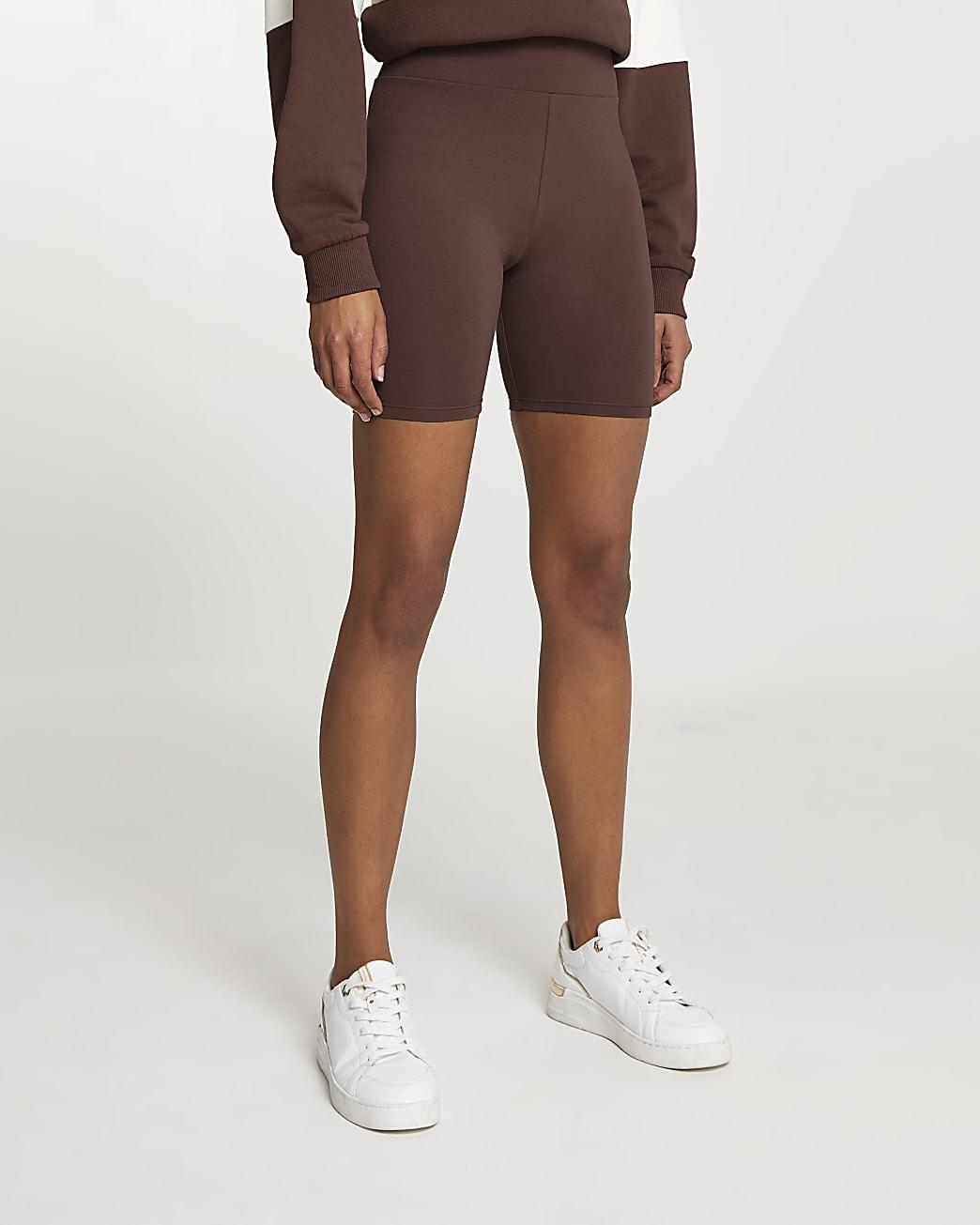 Brown cycling shorts