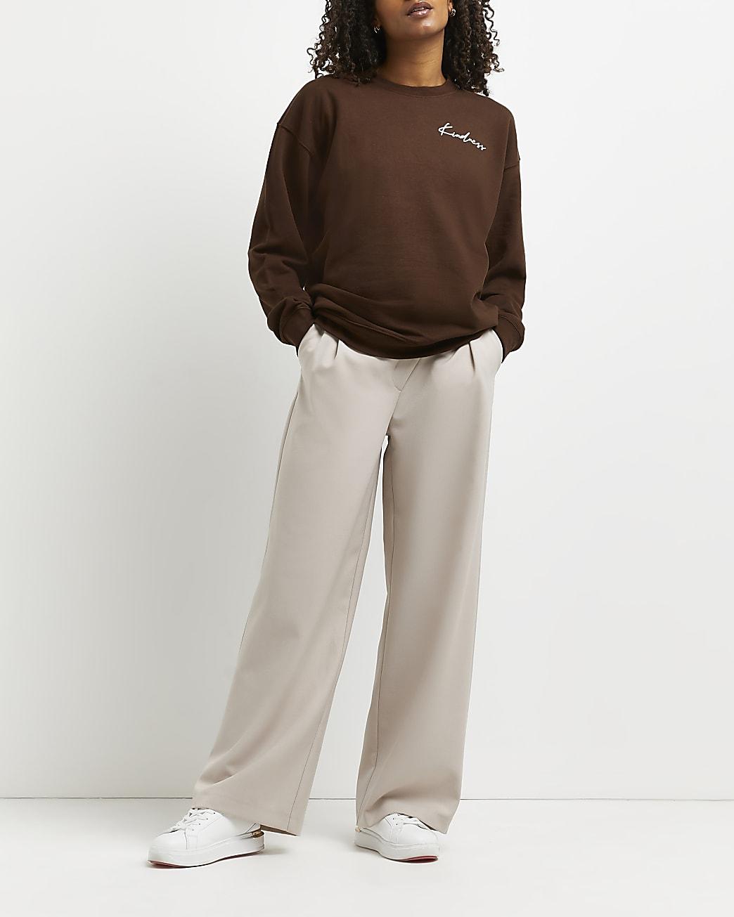 Brown graphic print sweatshirt