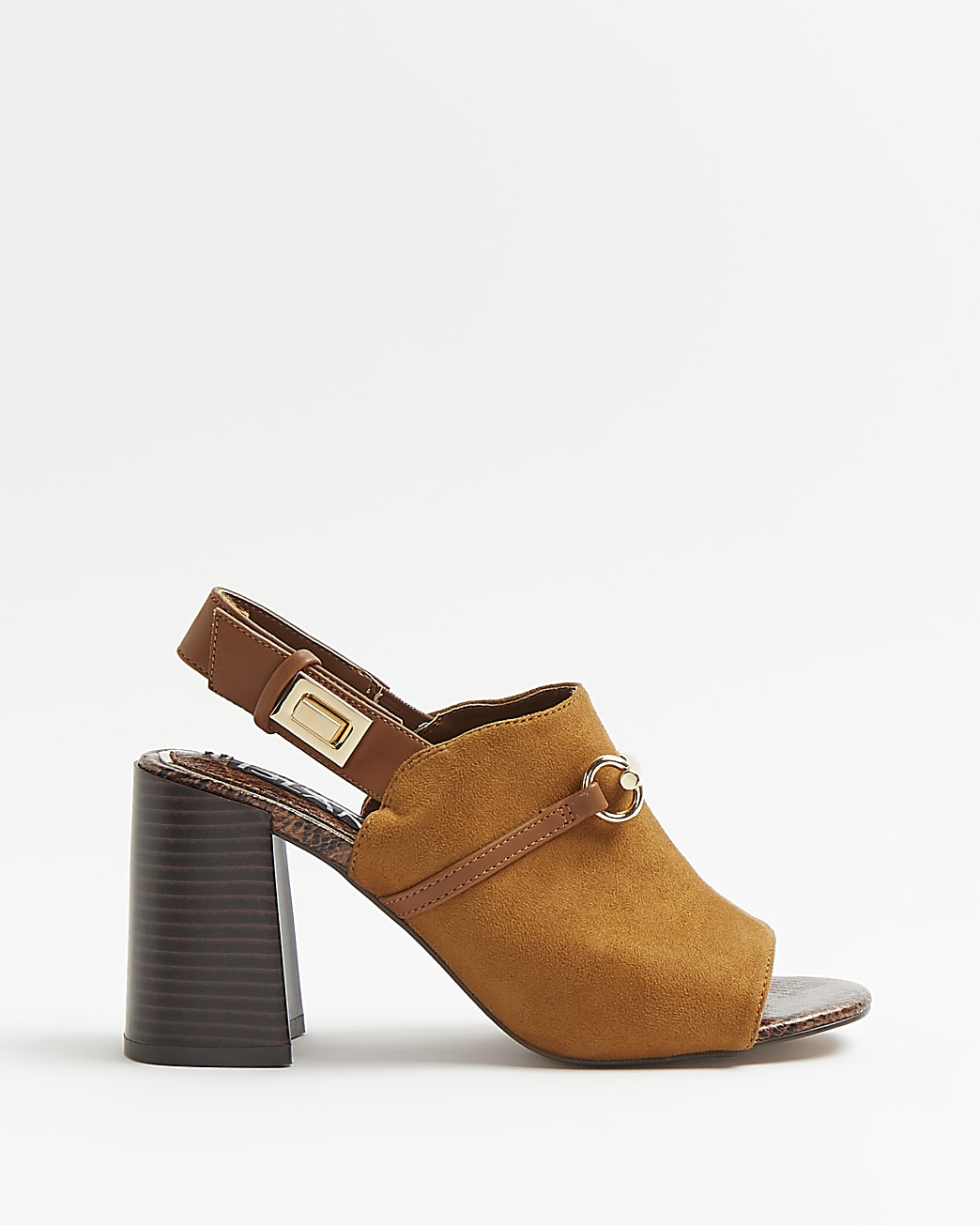 Brown heeled shoe boots