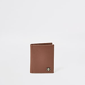 Brown leather textured RIR wallet