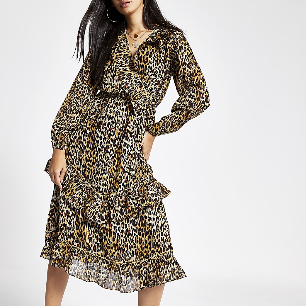Image 1 of River Island Leopard Coat | Leopard print outfits