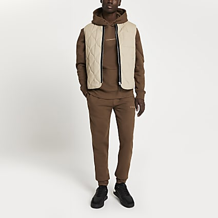 Brown 'Les Ensemble' slim fit joggers