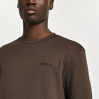 Brown 'Les Ensembles' slim fit t-shirt