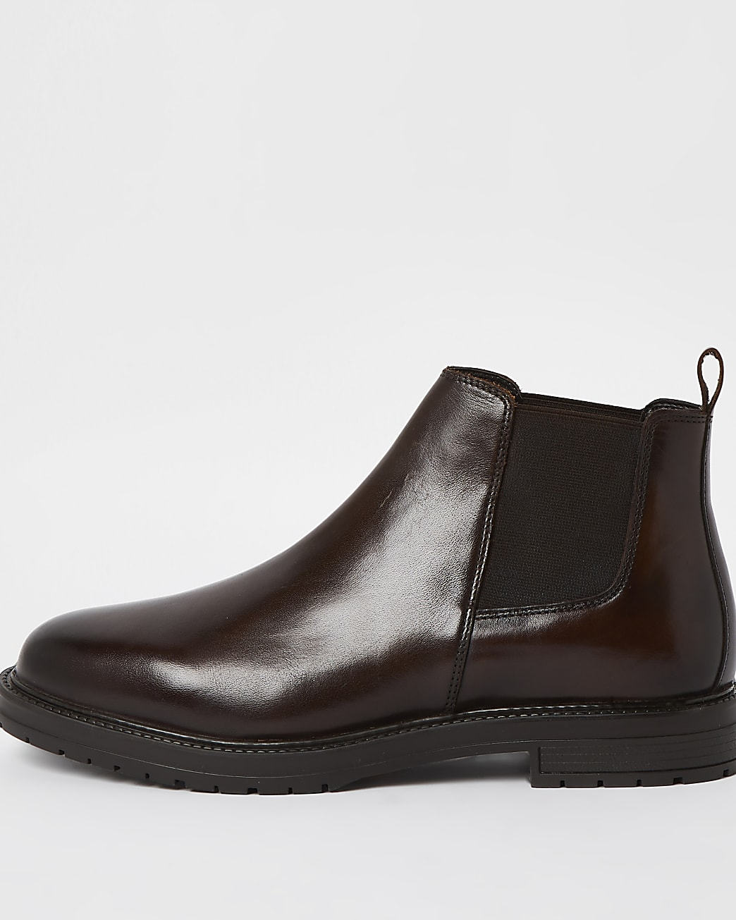 Brown low Chelsea ankle boots
