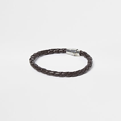 Brown magnetic clasp bracelet