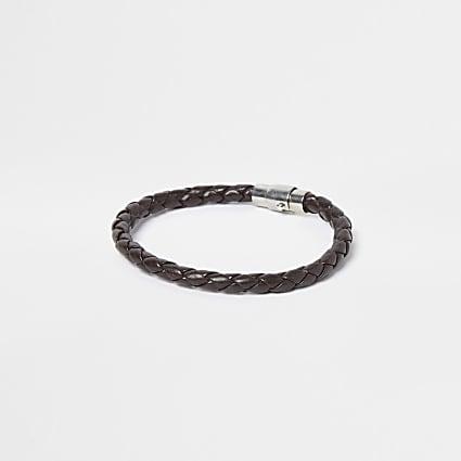 Brown magnetic clasp bracelet