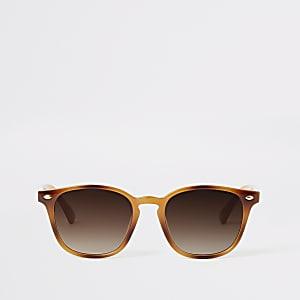 Bruin en marmelade zonnebril met schildpadprint