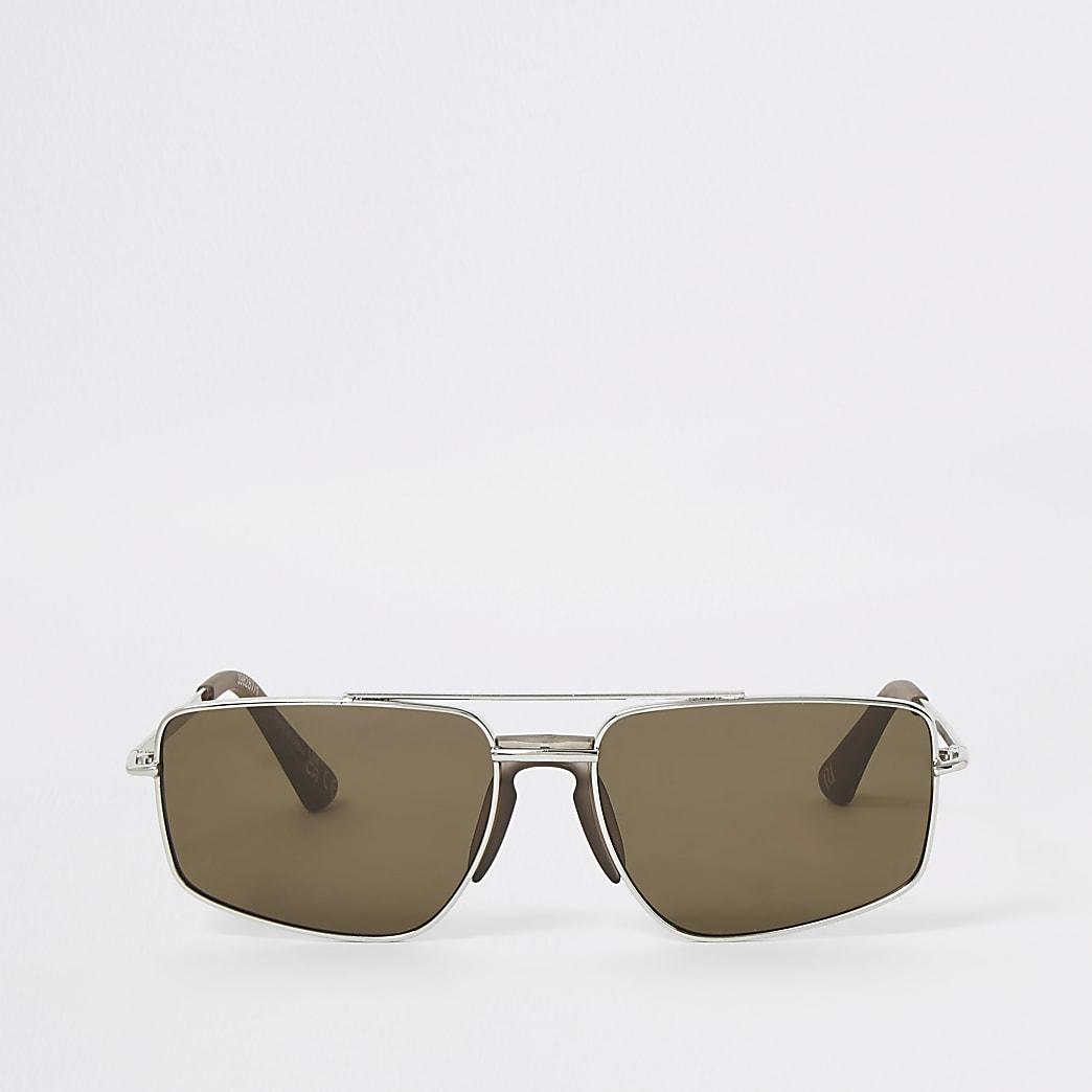 Brown navigator sunglasses
