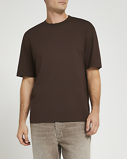 Brown oversized fit t-shirt