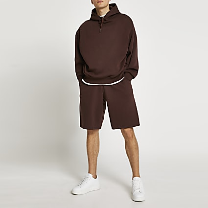Brown oversized shorts