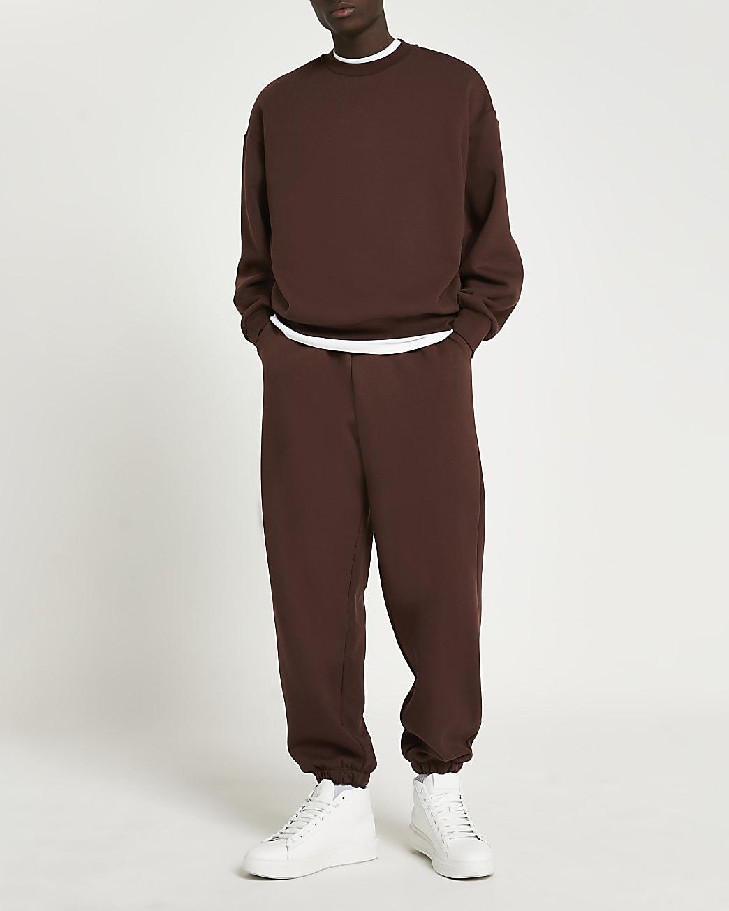 Brown oversized sweatshirt