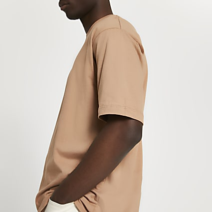 Brown oversized t-shirt