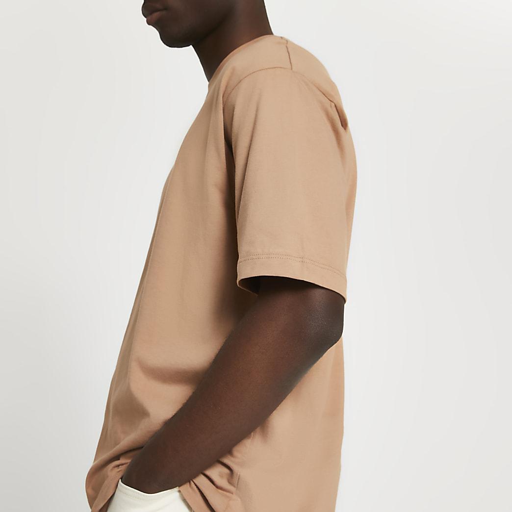 Brown oversized t-shirt