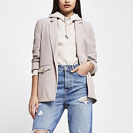 Brown pocket detail blazer