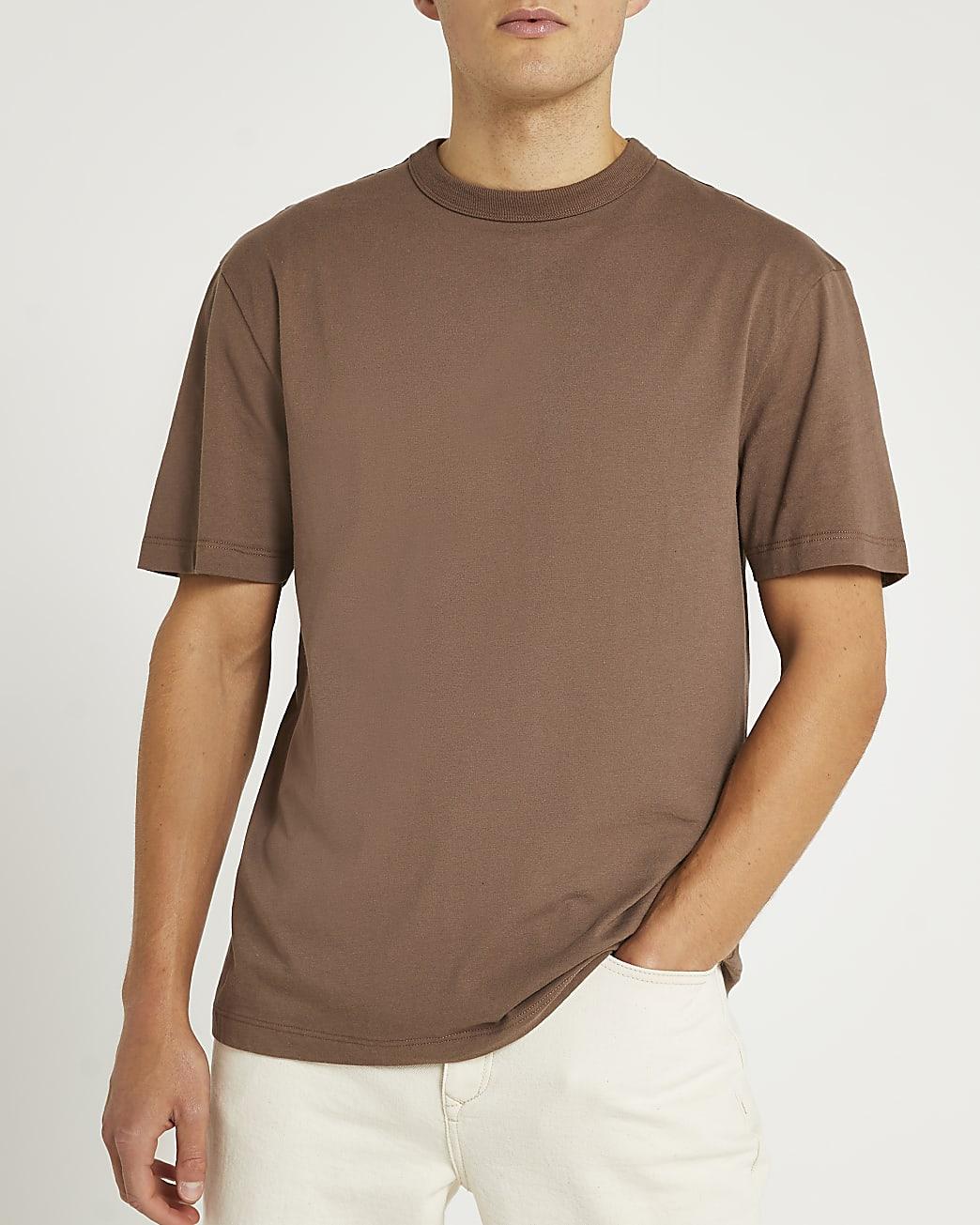 Brown regular fit t-shirt