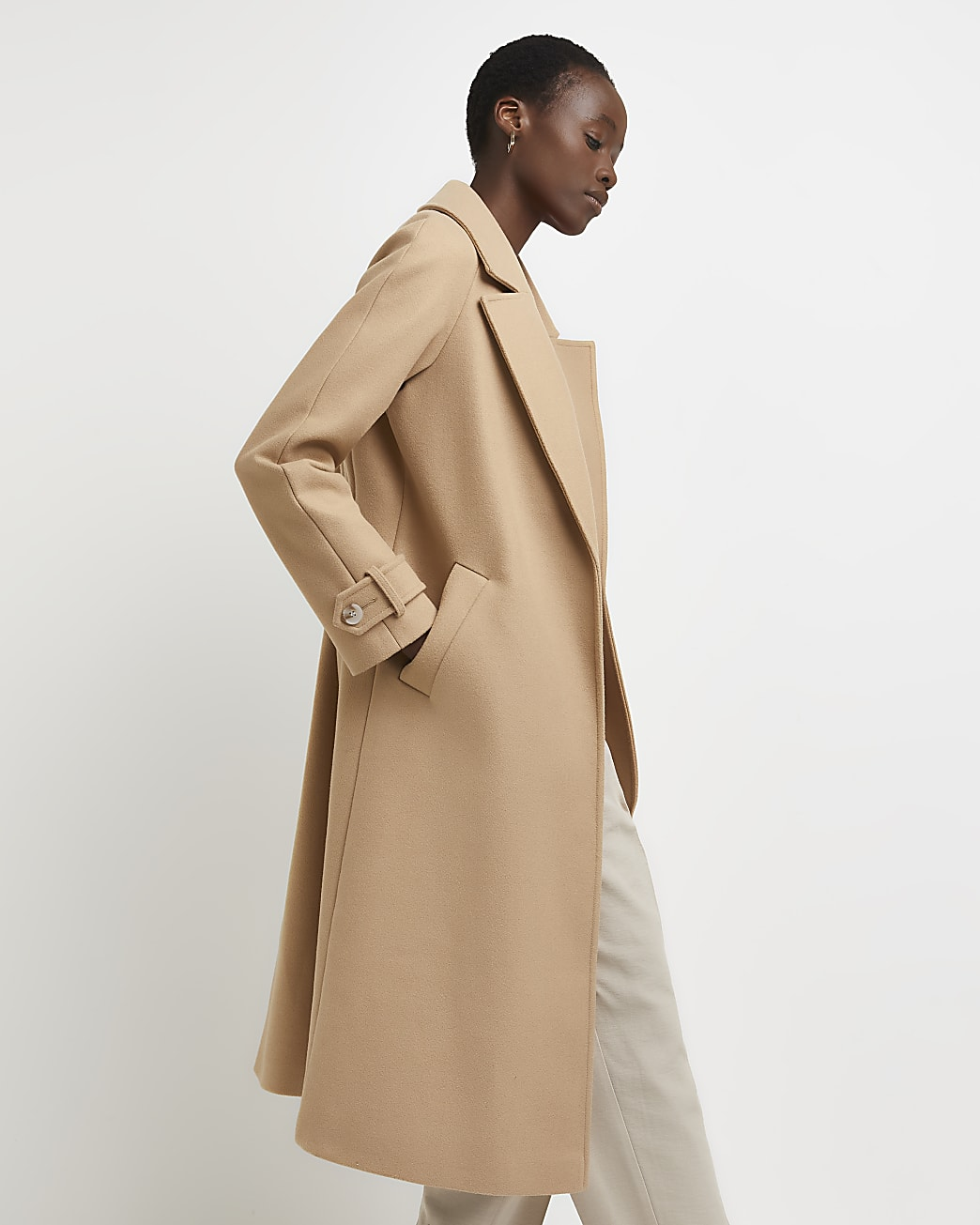 Brown relaxed duster coat