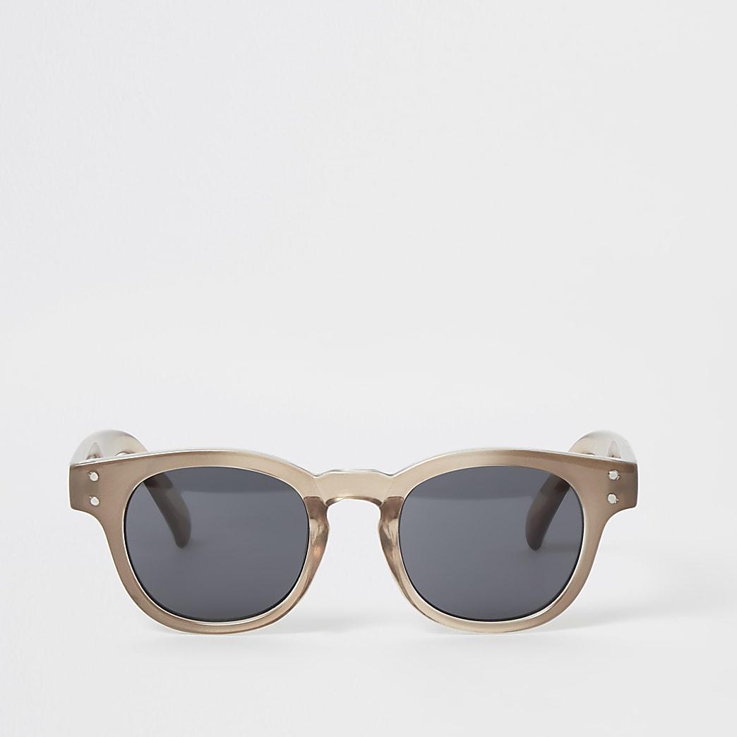 Brown retro frame sunglasses