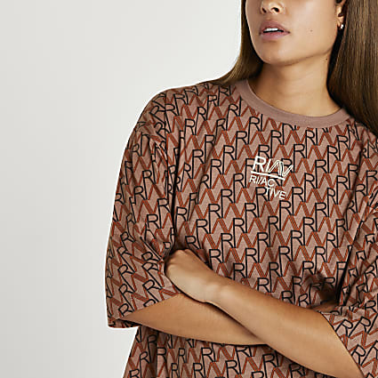 Brown RI Active oversized fit t-shirt