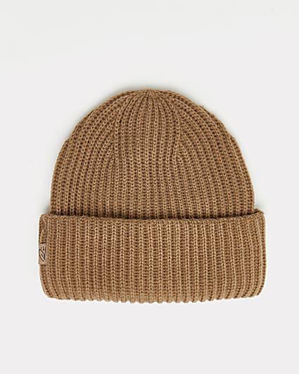 Brown RI branded fisherman beanie hat