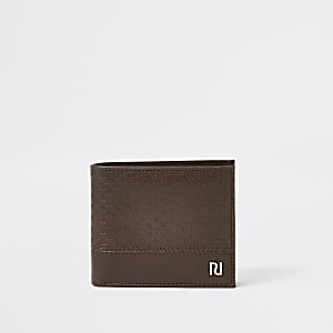 Brown RI embossed fold out wallet