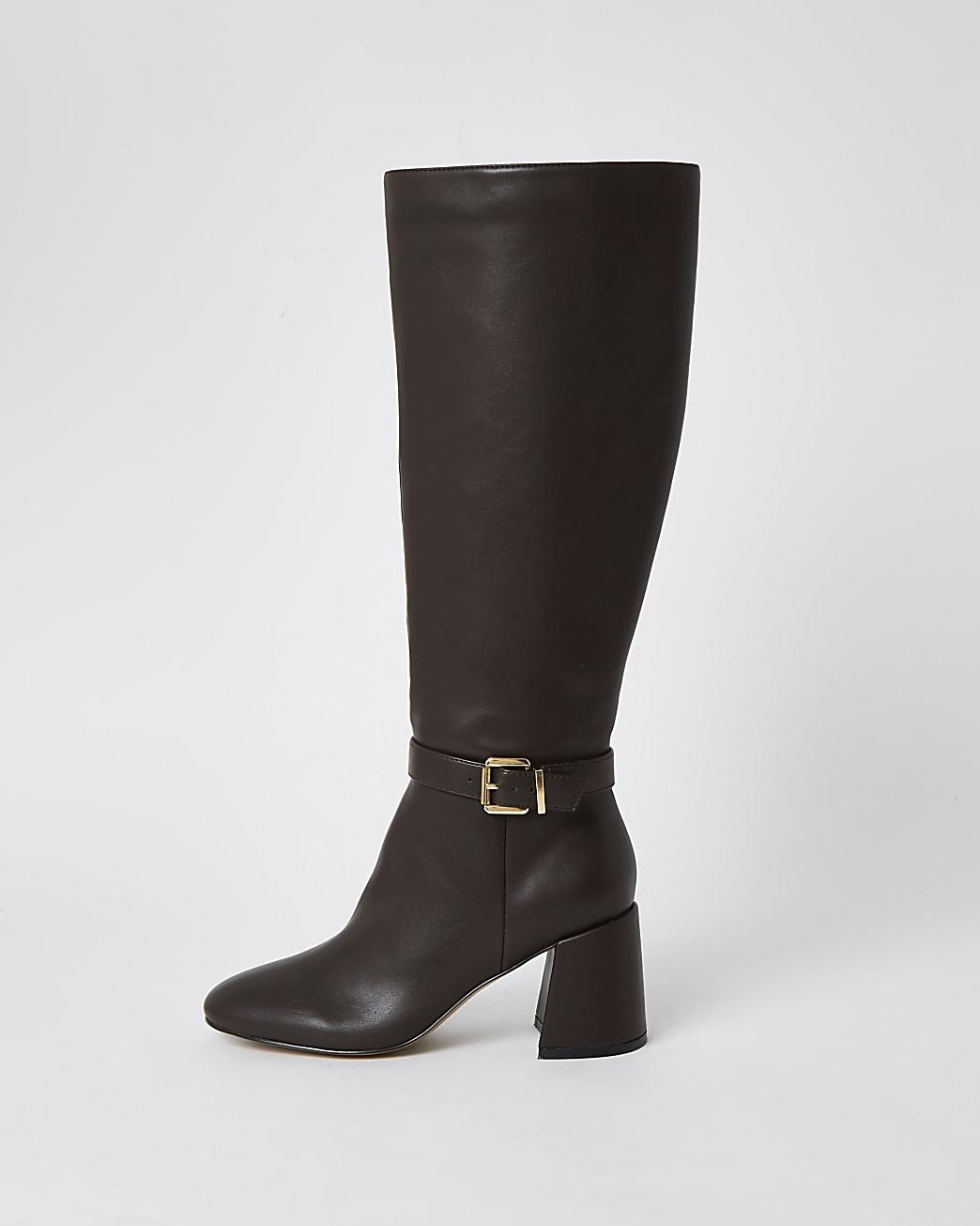 Brown RI high leg boots