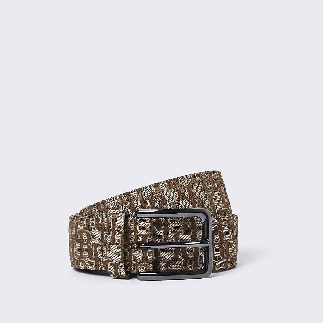 Brown RI jacquard belt