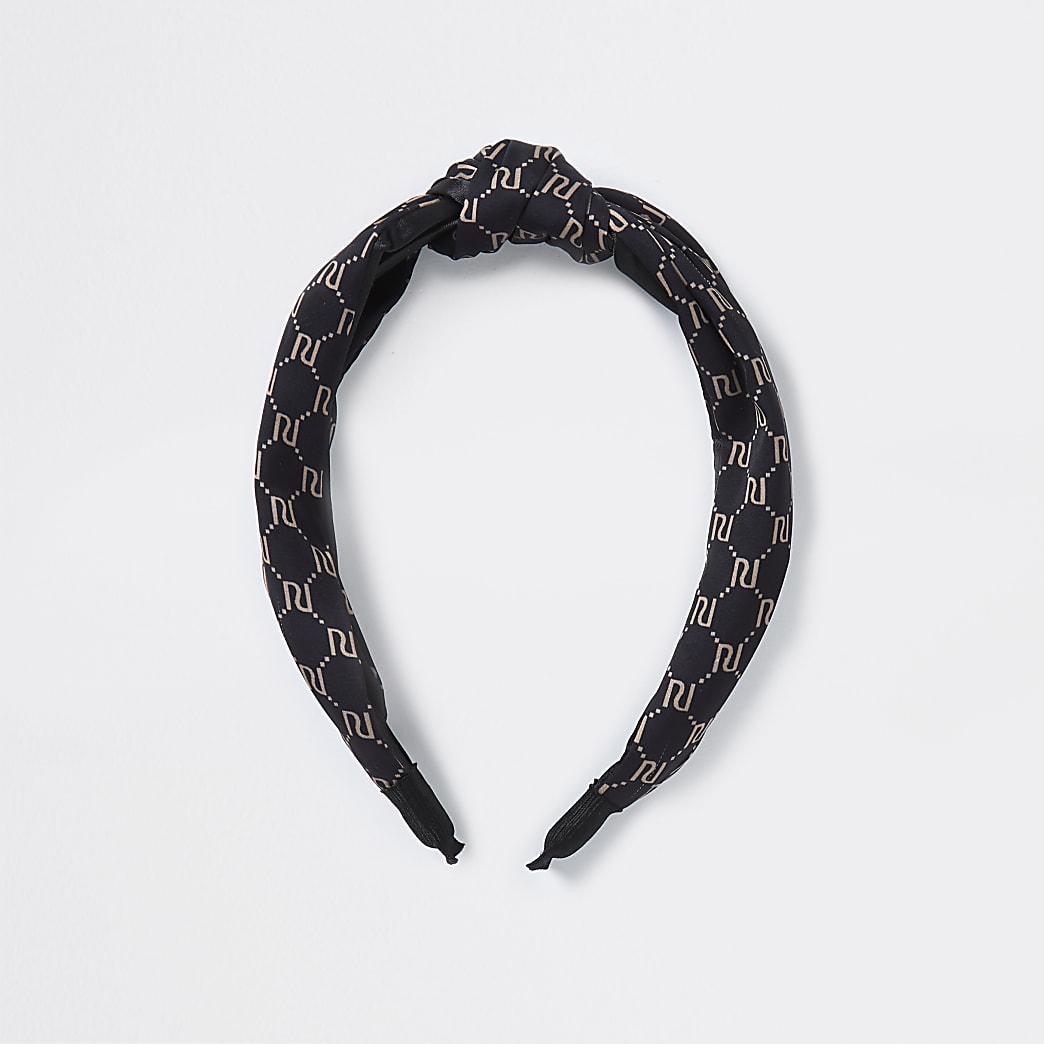 Brown RI knot headband
