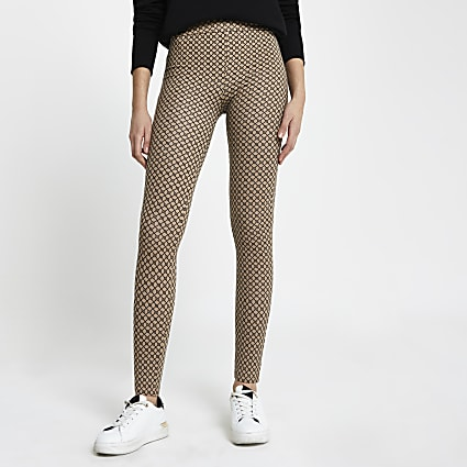 Brown RI logo leggings