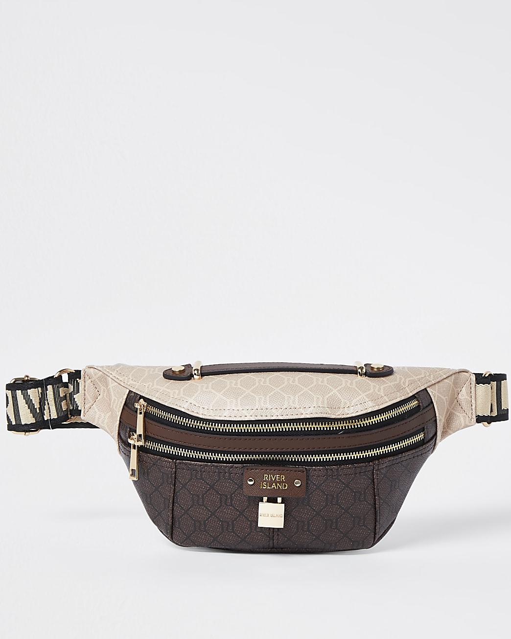 Brown RI monogram belt bag