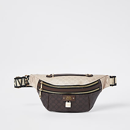 Brown RI monogram belt bag